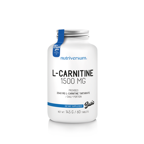 Nutriversum - BASIC - L-carnitine 1500 mg - 60 tabletta