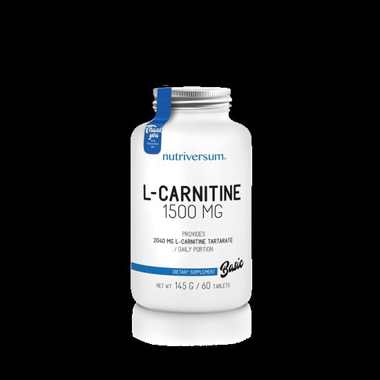 Nutriversum - BASIC - L-carnitine 1500 mg - 60 tabletta