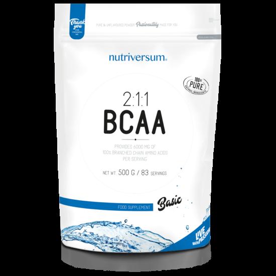 2:1:1 BCAA - 500g - BASIC - Nutriversum - ízesítetlen