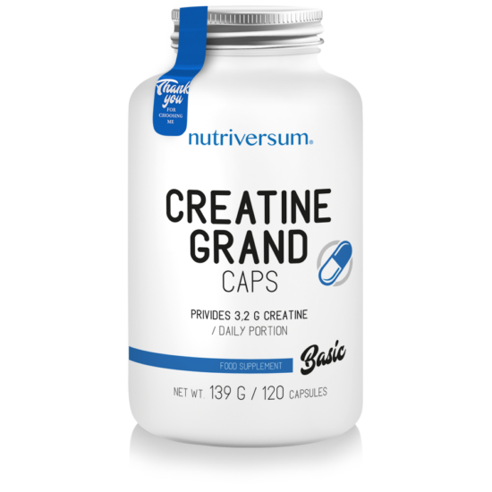 Nutriversum - BASIC - Creatine PRO Grand Caps - 120 kapszula