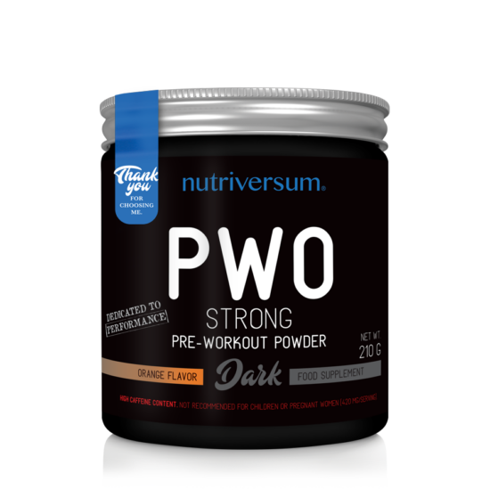 PWO Strong - 210g - DARK - Nutriversum