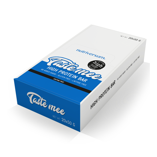 Taste Mee Protein Bar - 20x50 g - DESSERT - Nutriversum - csokoládé-málna
