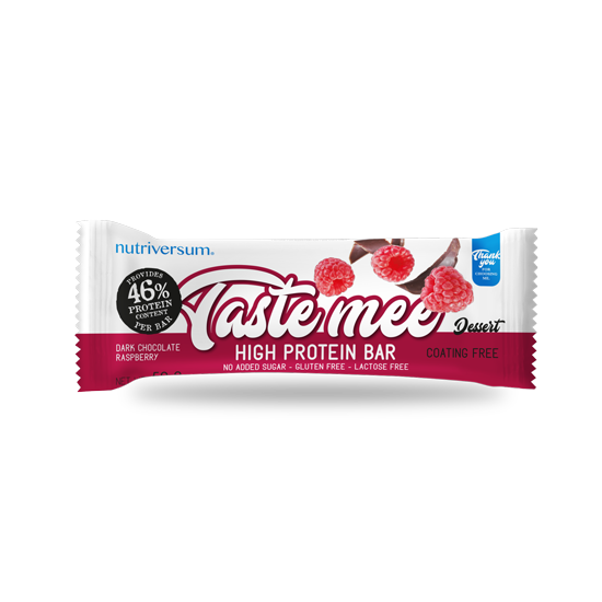 Taste Mee Protein Bar - 50 g - DESSERT - Nutriversum - csokoládé-málna