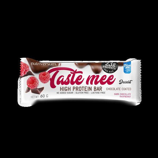 Taste Mee Protein Bar - 60 g (csoki bevonatos) - DESSERT - Nutriversum - csokoládé-málna