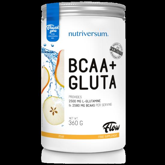 BCAA+GLUTA - 360 g - FLOW - Nutriversum - körte