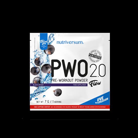 PWO 2.0 - 7 g - FLOW - Nutriversum - feketeribizli