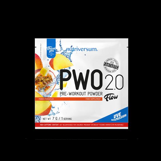 PWO 2.0 - 7 g - FLOW - Nutriversum - mangó-maracuja