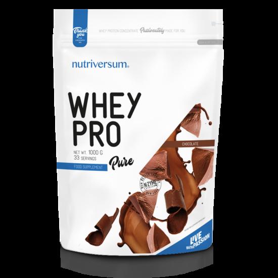 Whey PRO - 1 000 g - PURE - Nutriversum - csokoládé