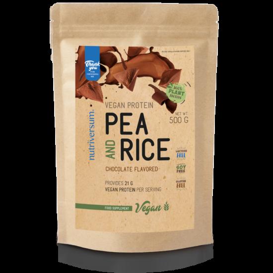 Pea & Rice Vegan Protein - 500g - VEGAN - Nutriversum - csokoládé