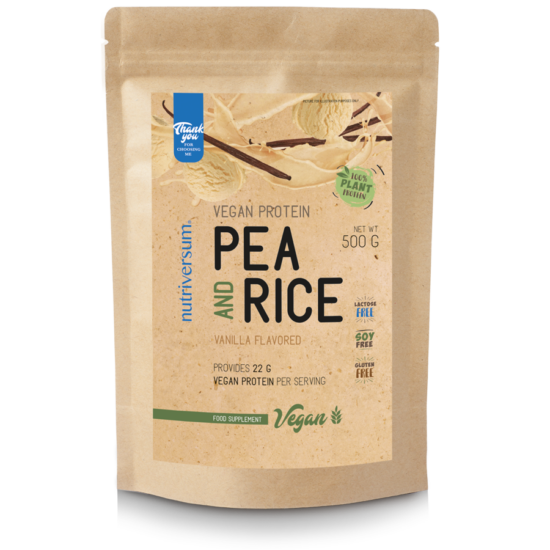 Nutriversum - VEGAN - Pea & Rice Vegan Protein - 500g