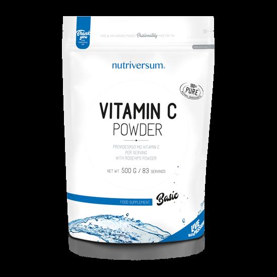C-vitamin Powder - 500 g - BASIC - Nutriversum - ízesítetlen