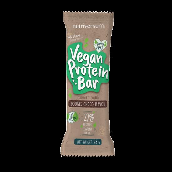 Vegan Protein Bar - 48 g - DESSERT - Nutriversum - dupla-csokoládé