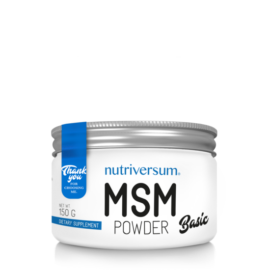 MSM Powder - 150 g - BASIC - Nutriversum - ízesítetlen
