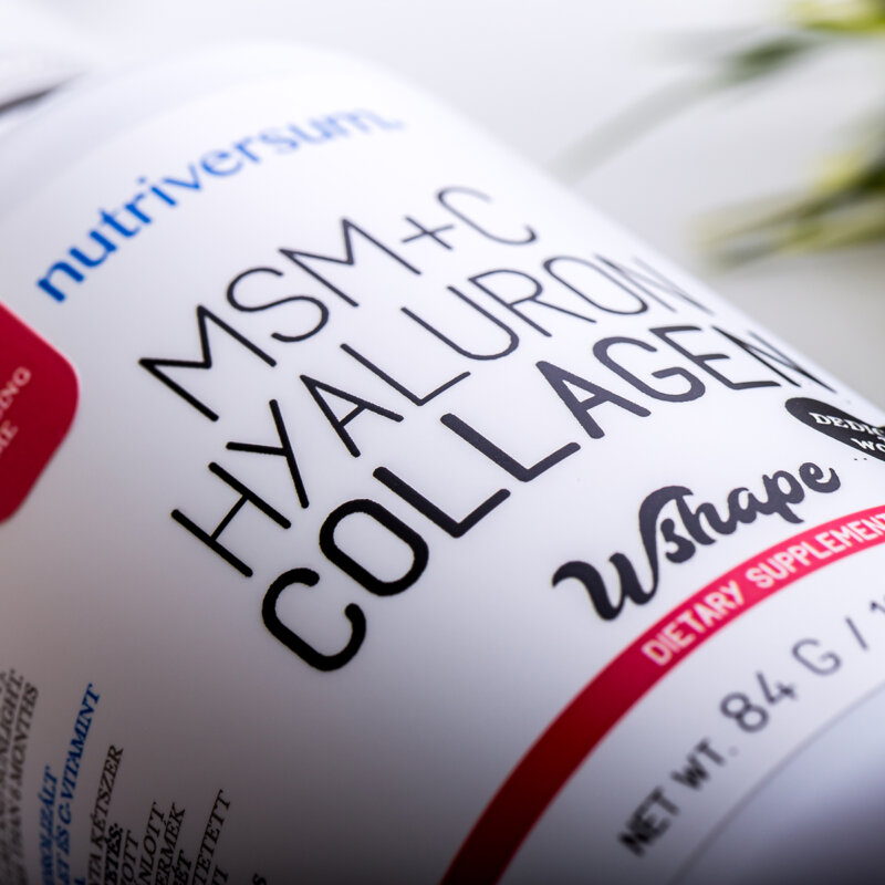 Nutriversum MSM+C Hyaluron Collagen Liquid erdei gyümölcs - ml - VitaminNagyker webáruház